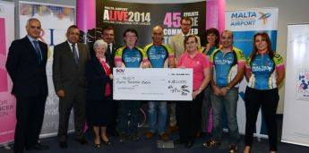 ALIVE Charity Foundation donates record sum for Breast Cancer Research