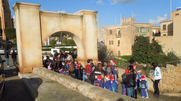 Hundreds of children from Gozo and Malta visit Bethlehem f'Ghajnsielem