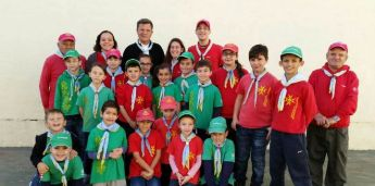 Bishop Mario Grech visits Xaghra Scout Group, invested as an Honorary Member