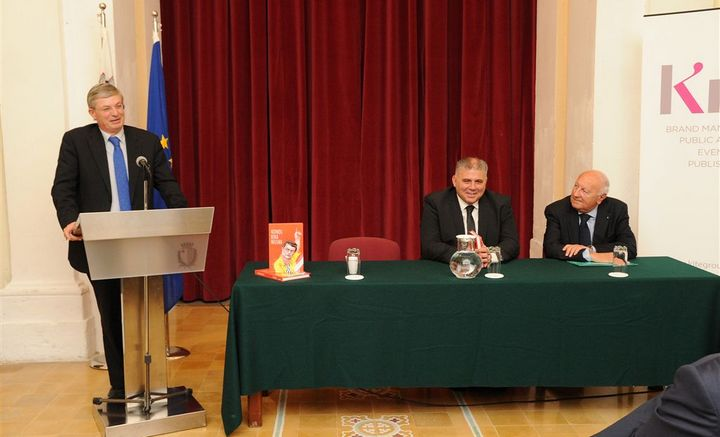 Gozo book launch held for Nidhqu Bina Nfusna by Dr Tonio Borg