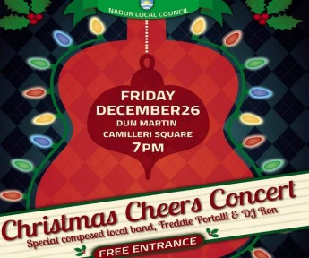 Christmas Cheers Concert: Free Christmas Concert on Friday in Nadur