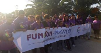 President Marie-Louise Coleiro Preca joins in Gozo Funwalk for Istrina