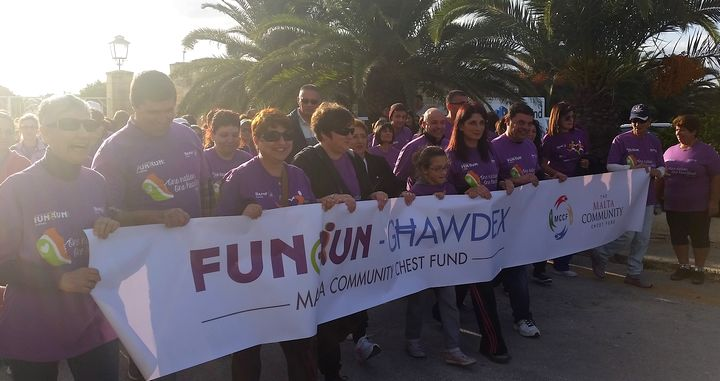 €2,212.94 for Istrina through Gozo Hospital Fun Walk & donations