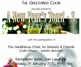 The Gaulitanus Choir in a 'A New Year's Toast' at Kempinski Hotel San Lawrenz