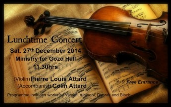 Lunchtime concert for the festive season at the Ministry for Gozo Hall