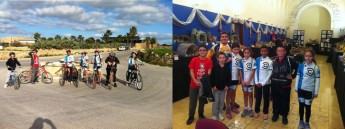Young members of Gozo Greyhounds Sports Club cycle across Gozo