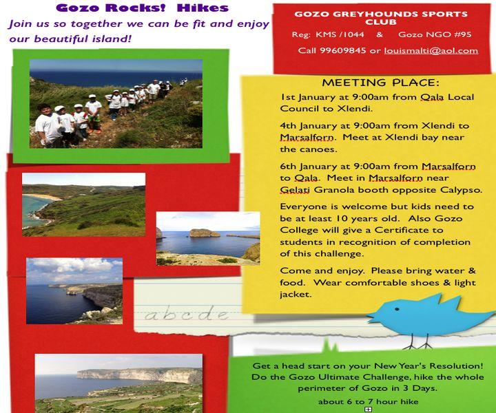 Gozo-Rocks challenge underway, to hike around the perimeter of Gozo in 3 days