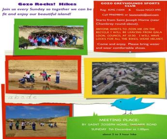 Hike around the Ghajnsielem countryside on Sunday with the Gozo-Rocks group