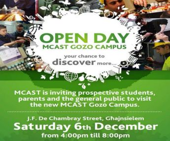MCAST Gozo 'Open Day' for prospective students, parents & the general public