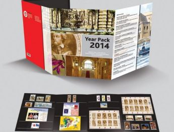 MaltaPost launches the Year Pack including all Stamp Sets issued in 2014