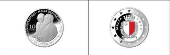 Central Bank of Malta silver coin: 40th Anniversary of the Republic of Malta