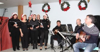 Christmas entertainment & laughter for elderly residents at Gozo Hospital