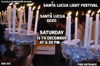 Feast of Saint Lucy being celebrated this weekend in Santa Lucija, Gozo