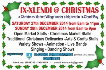 Tented Christmas Market Village being held this weekend in Xlendi Bay