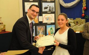Exhibition by VPA students: Christmas card competition winner named as Alicia Said
