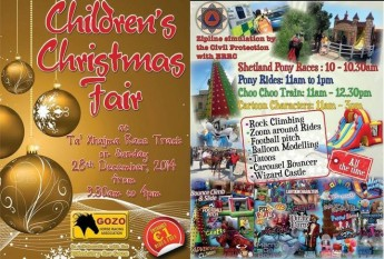 Children's Christmas Fair this Sunday at Ta' Xhajma Race Track, Gozo