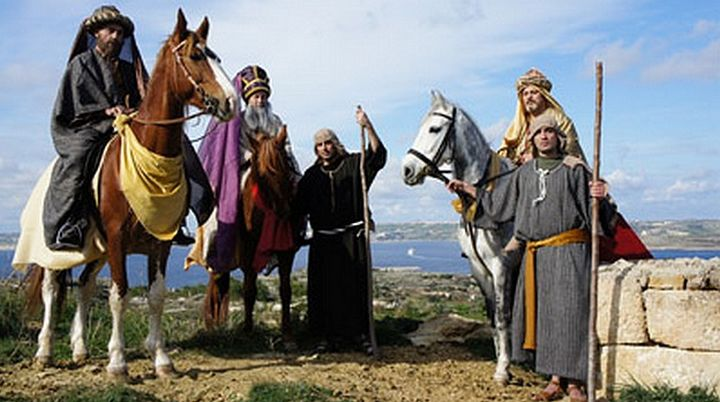 The Magi depart for Gozo from Greccio, home of first Nativity scene
