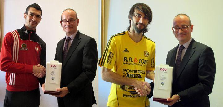 Ferdinando Apap & Daniel Bogdanovic are BOV Gozo players of the month