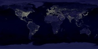 Earth's city lights seen from space, with Malta & Gozo shining brightly