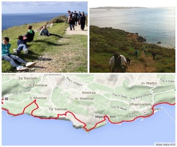 First part of Gozo-Rocks Challenge Hike covers 18Km in the south-west