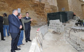 A visit to the Cittadella works by Minister for Gozo Anton Refalo
