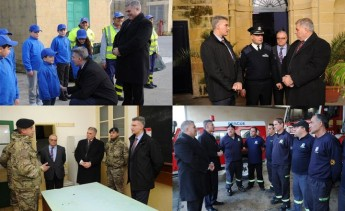 Minister for the Interior and National Security Carmelo Abela, visits Gozo