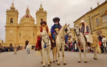 'La Cavalcata Dei Re Magi' held in Xaghra to mark the Feast of the Epiphany