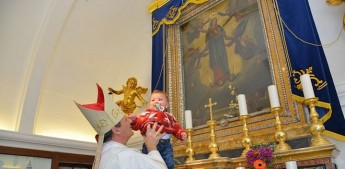 The Presentation of Babies to Our Lady of Ta' Pinu with Bishop Mario Grech
