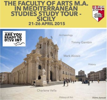 Five day Study Tour to Eastern Sicily open to guest participants