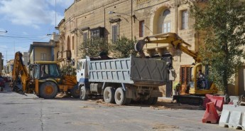 Refurbishment project underway in Victory Square, Xaghra