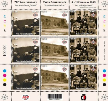 Stamps to commemorate 70th Anniversary of the Yalta Conference