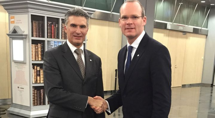 Ireland making the a donation of an offshore patrol ship to Malta