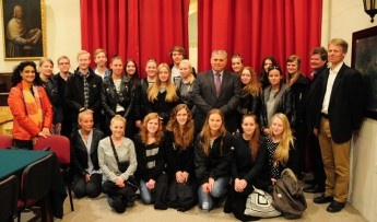 Students from the Danish island of Bornholm visit the Minister for Gozo