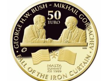 CBM issues numismatic coins commemorating Bush-Gorbachev Malta summit