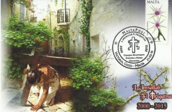 Gozo Philatelic Society issues commemorative postcard for Passion Pageant