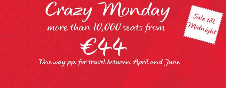 Air Malta launches 'Crazy Monday' one day sale on 10,000 seats