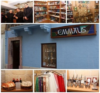 Emmaus: Religious souvenir bookshop opened in St Francis Square