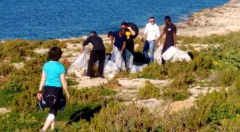 FAA with other organisations undertake beach clean-ups in Malta