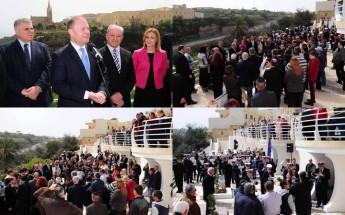 Prime Minister inaugurates new belvedere in Hamri Street Ghajnsielem
