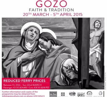 Reduced Gozo Channel ferry fares as part of Gozo Faith and Tradition