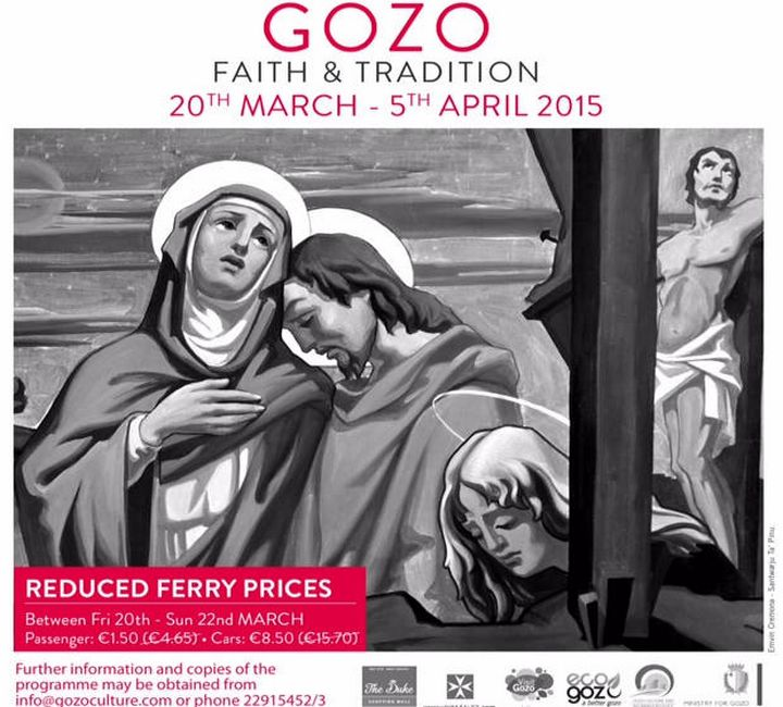 Visit Gozo with reduced ferry fares next weekend & experience Faith & Tradition