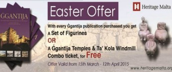 Heritage Malta Easter offer on every Ggantija publication purchased