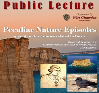Peculiar Nature Events related to Gozo: Wirt Ghawdex public lecture