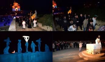Via Crucis held at Ta' Ghammar Hill, Ta' Pinu, led by Bishop Mario Grech