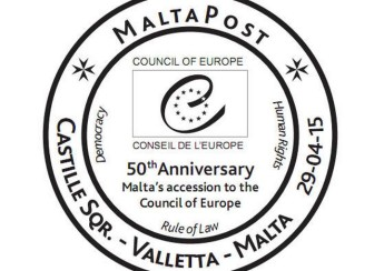 Hand Postmark: 50th Anniversary Malta's accession to the Council of Europe