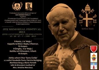 Concerts in Gharb & Hamrun as part of the JP2 Memorial Festival