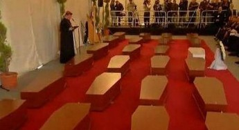 Inter-faith funeral service held for the 24 migrants who lost their lives on Saturday