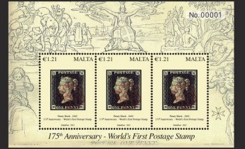 175th Anniversary of the world's first postage stamp