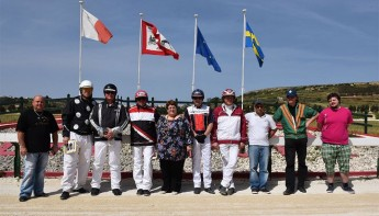 Swedish and local drivers together in Gozo trot races at Xhajma racetrack