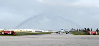 Finland's largest airline Finnair landed at MIA for the first time this morning